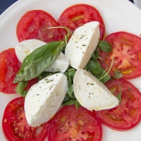 Mozzarella, Tomato, and Basil Caprese Salad