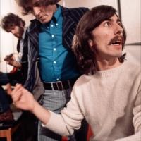 Joe with George Harrison at Apple Studios