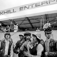 Rolling Stones and biker security at Hyde Park 1969