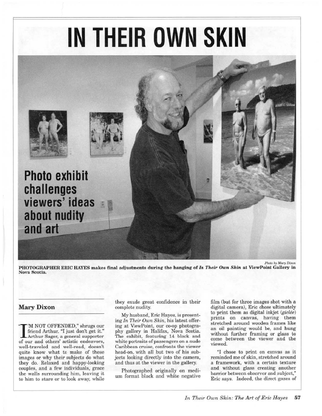 Eric Hayes at In Their Own Skin Viewpoint Gallery